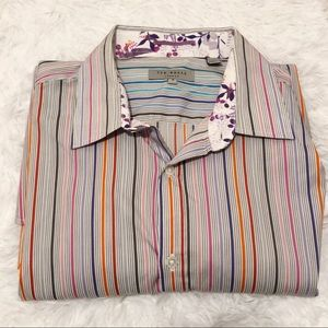 Ted Baker Striped Button Down Shirt